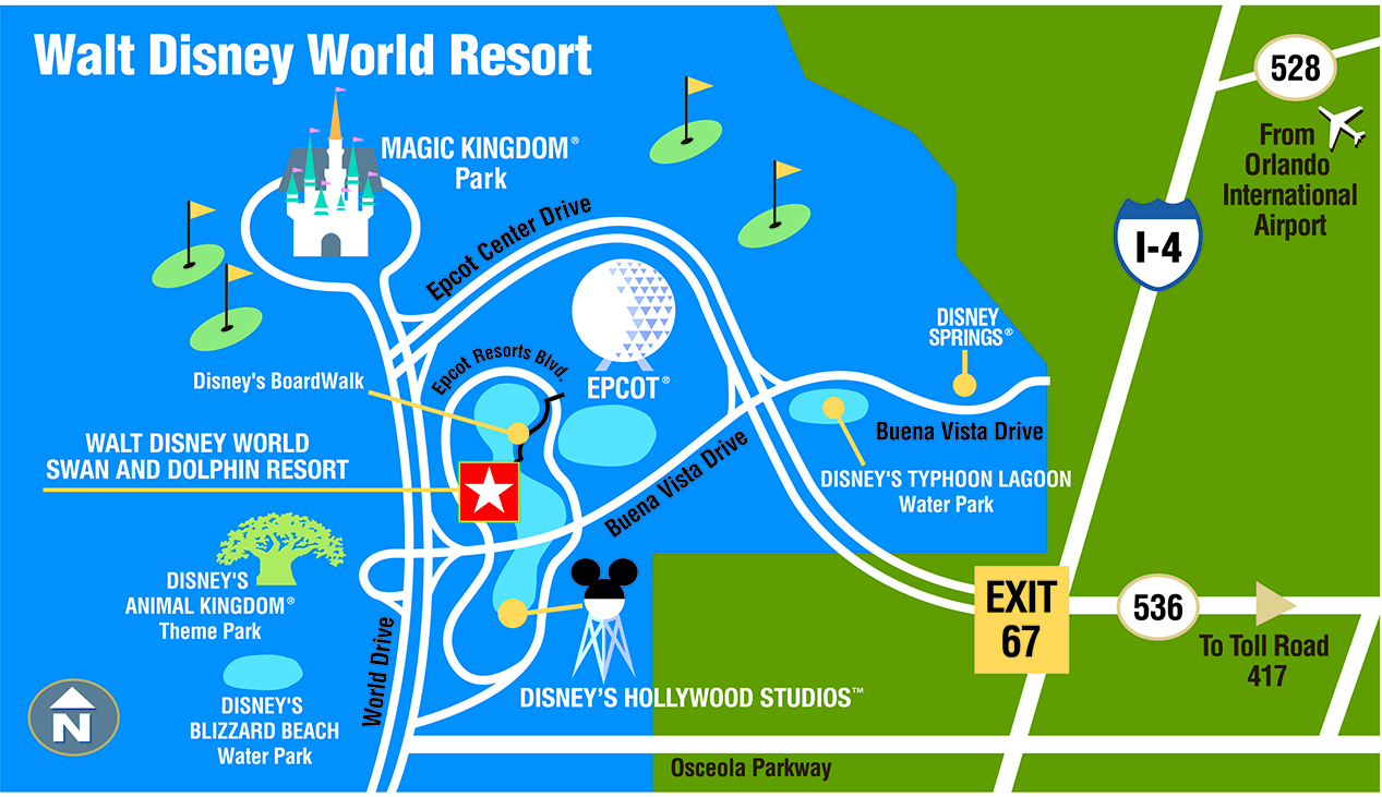 Walt Disney World Resort Map Walt Disney World Swan and Dolphin